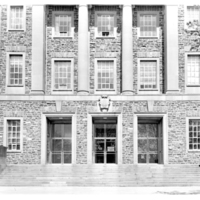 Photograph of the main entrance of the Sir James Dunn Building