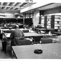 Photograph of the serials services area in the Killam Memorial Library