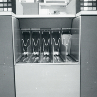Photograph of a keypunch machine at the Dalhousie Computer Centre in the University Club