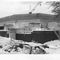 Photograph of the construction of Dalplex