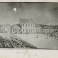 Drawing of Dalhousie College campus : Barrington Street location