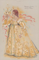 Costume design for Juliet at ball