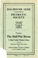 Dalhousie Glee and Dramatic Club - 'The Half Pint Revue - A Hip Pocket Musical Show'