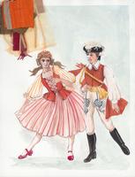 Costume design for Czardas