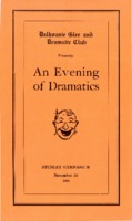 Dalhousie Glee and Dramatic Club - 'An Evening of Dramatics' program