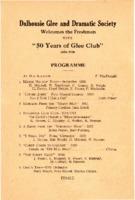 Dalhousie Glee and Dramatic Club - 'Fifty Years of Glee Club, 1886-1936'