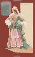 Costume design for Miss Prue