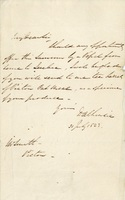 Letter from Lord Dalhousie to W. Smith