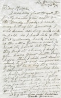 Letter from Sgt. A. Fraser Tupper to Ralph Kane